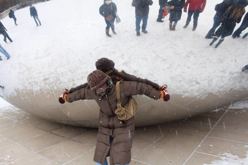 Always trying to be strong. Cloud gate, Chicago, IL.  PC: Larry Morris