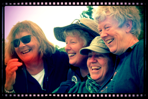 That's me, second from left, with long-time friends Susie, Kitty and Joanna at a reunion of northern Ontario camp counsellors (circa late 1960s) in August, 2015. Climate issues can be overwhelming, and that's why having a 'buddy' - remember that crucial Red Cross safety rule about never swimming alone? GREAT ADVICE! - or joining a team of people focused on positive action AND climate solutions, can make things not just bearable, but often fun too. Check out  Citizens' Climate Lobby , for example. We can't solve problems we don't talk about, so let's get talking! And action is by far the best antidote for despair.