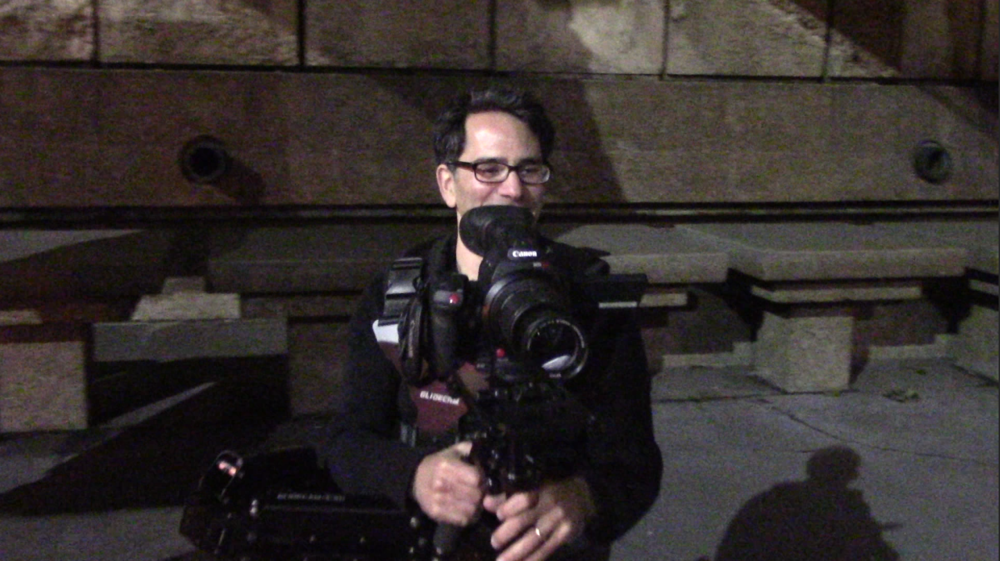 Having fun with my Glidecam. (Image Andy Peri)