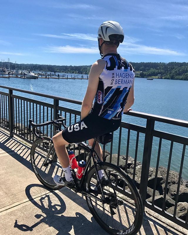 Soaking up the sun on my last day in the PNW for a couple months. Off to the Olympic Training Center in Colorado Springs tomorrow for some Team Pursuit training with @usacycling! #sunsoutgunsout