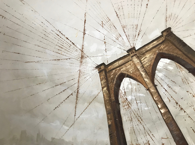 Brooklyn's Harp | Oil on Canvas, 3x4 ft. - Original ArtworkView Gallery