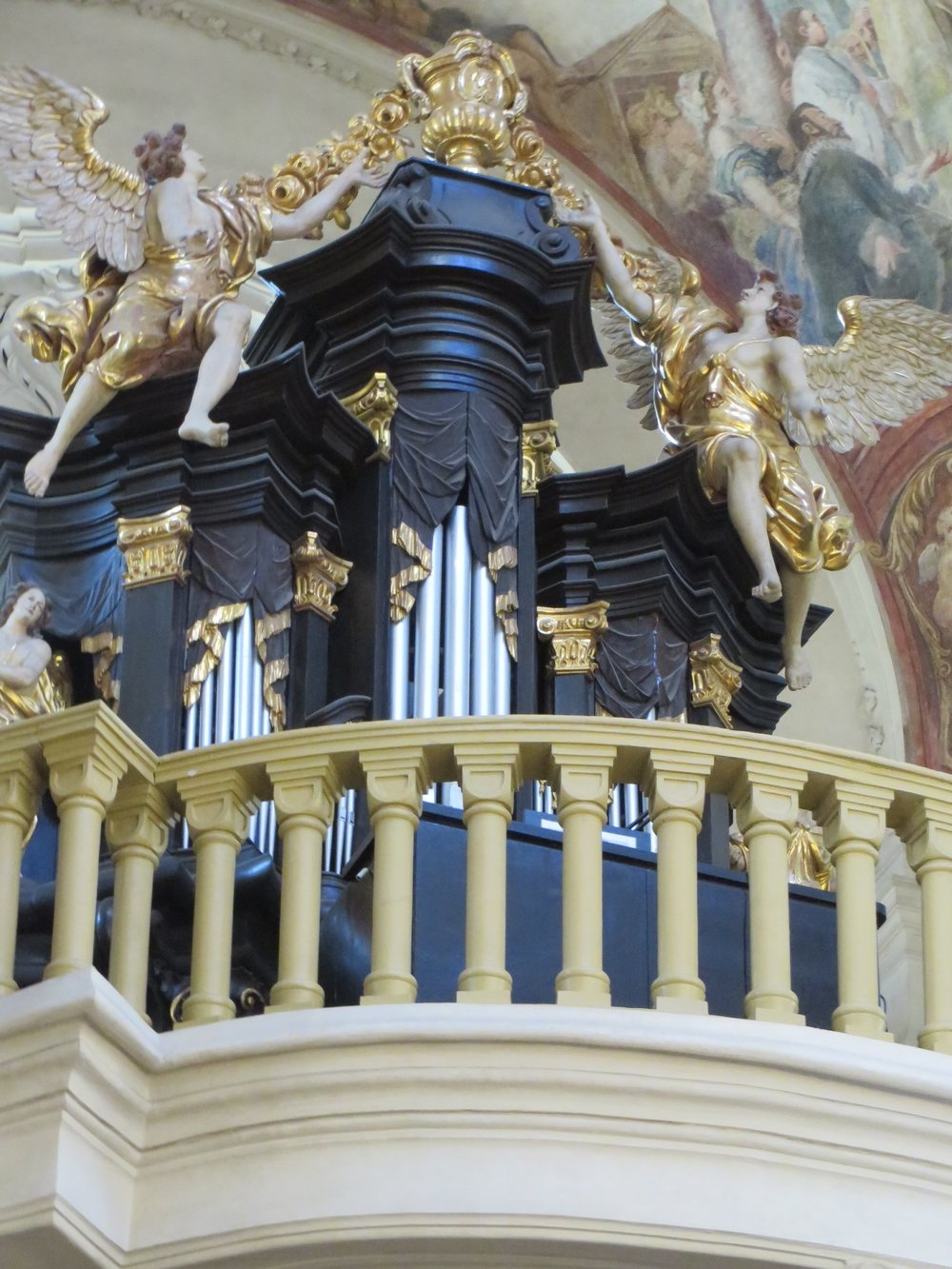 Organ Loft, st. Nicholas church, prague