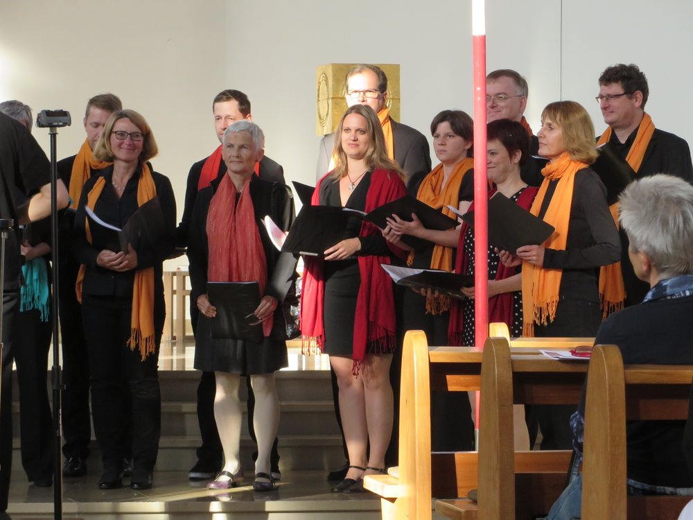 our host choir, st. agnes church, munich