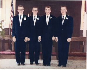 Jerry and his brothers in 1955