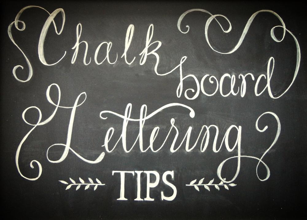 Chalkboard Lettering Tips Hand Lettered Chalk Design