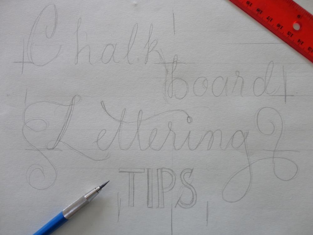 Rough sketch of Chalkboard Design.