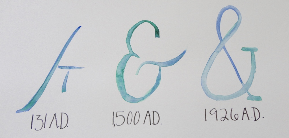 Watercolor Ampersand Timeline