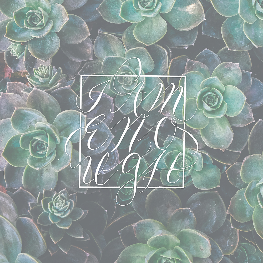 Hand Lettering Design, with Succulents. Free Wallpaper.