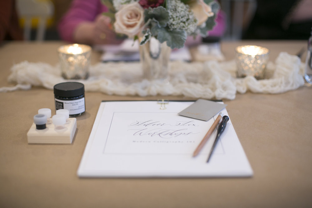 Silver Fox Calligraphy's Modern Calligraphy Workshop in Petoskey, Michigan