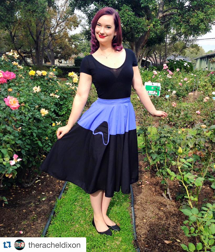 The lovely YouTuber Rachel Dixon showing off perfection in the Damnit Jim skirt from the Galactic Ambassador line.