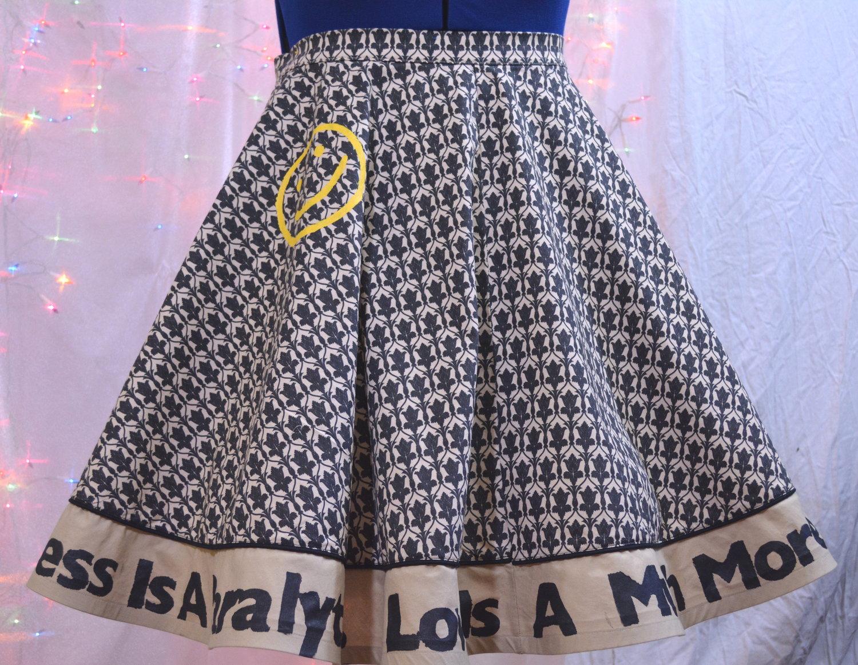 Sherlock Wallpaper Full Circle Skirt