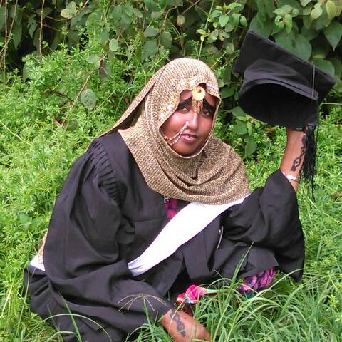 Fatuma on her graduation day in Addis Ababa
