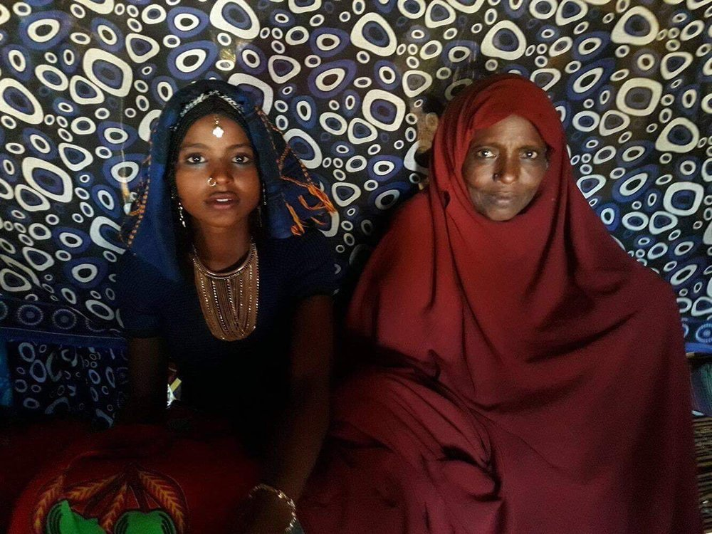 Asiya with her mother Fatuma on her wedding day