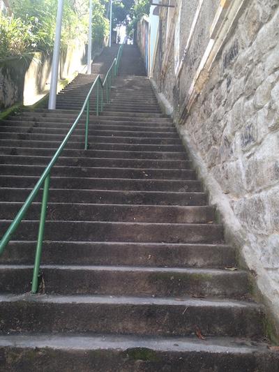 A 281-step staircase in Santa Teresa, Rio de Janeiro