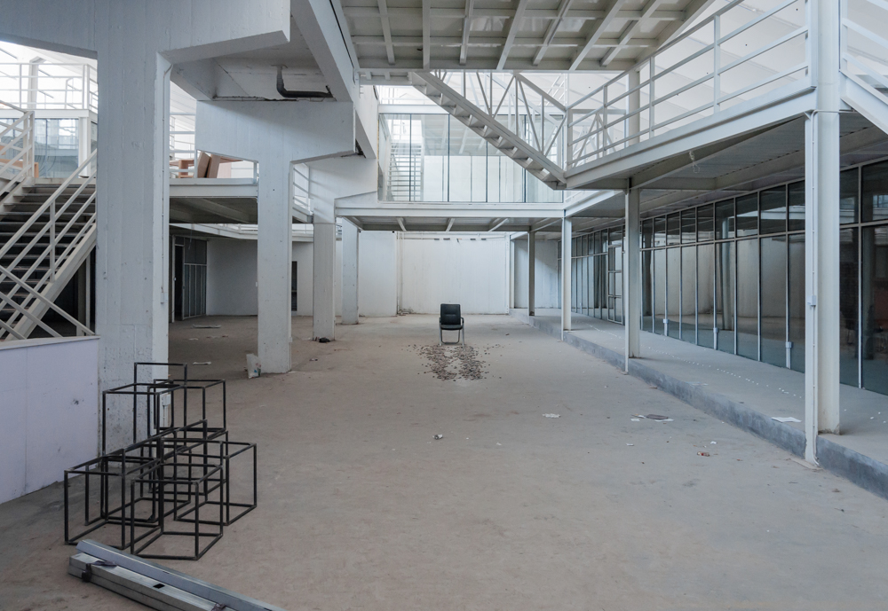 Old buildings in the former textile manufacturing district of Xi'an are now being re-purposed for artistic spaces.