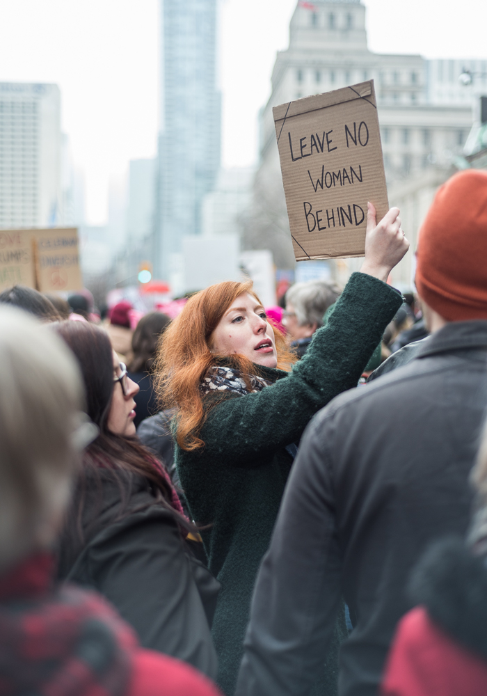 The Women's March on Washington in Toronto, January 21, 2017.