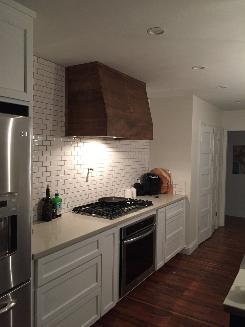 dark rivets zinc hood kitchen installed patina essentials with on design high budget keep a quality hoods vent of and