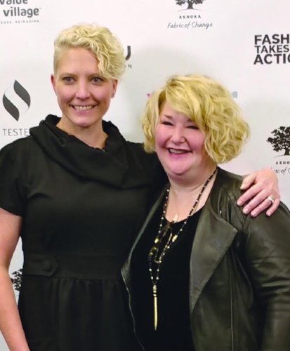 Fashion Takes Action's Founding Executive Director Kelly Drennan & Evrnu CEO and Co-Founder Stacy Flynn.