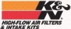 K&N high flow air filters and intake kits.