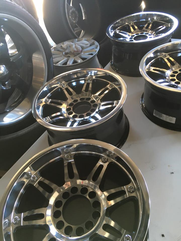 A wide selection of rims and wheels