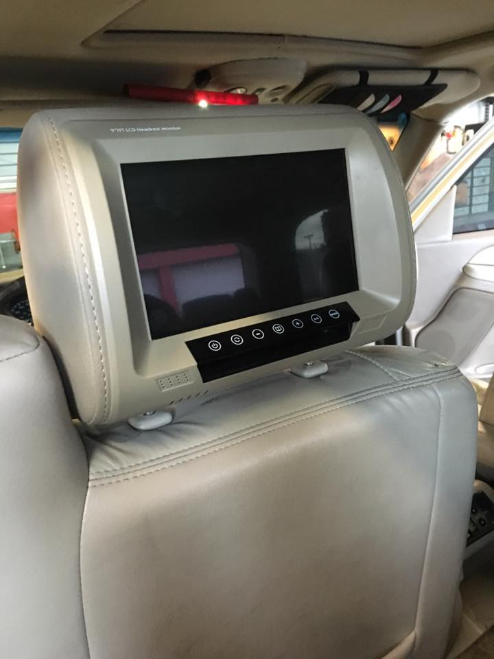 Headrest car video monitor from Audiosport Escondido