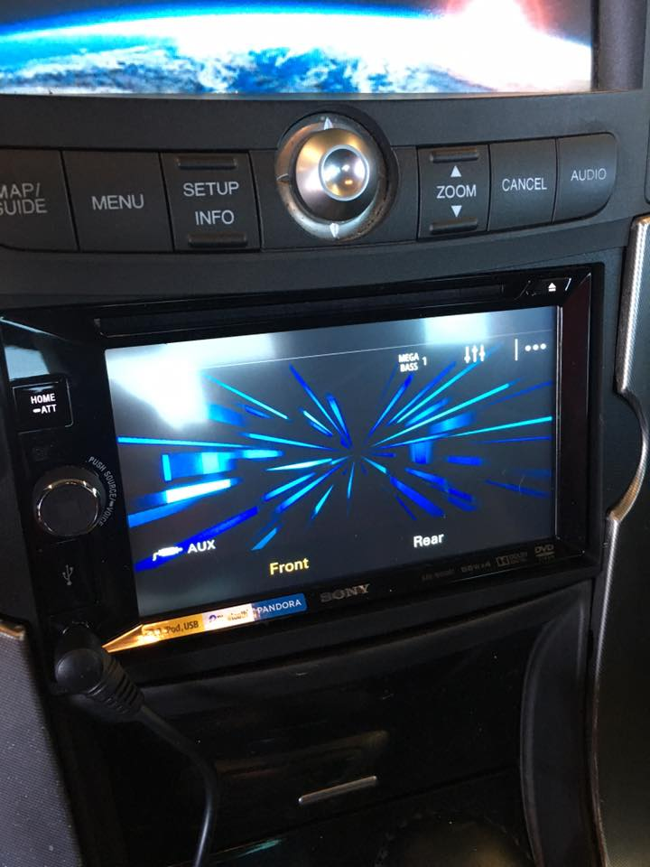 Touchscreen car audio system