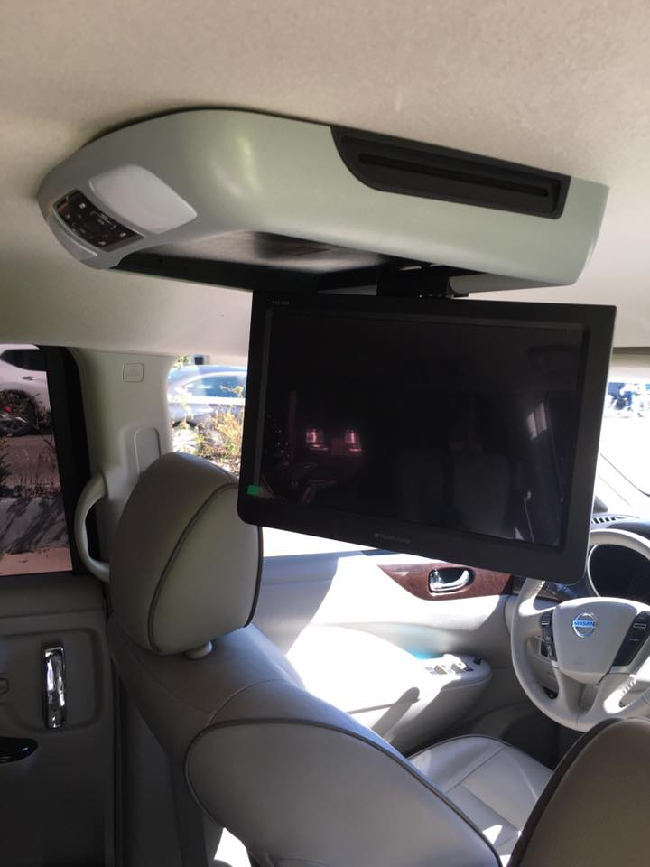Car Video Player monitor installation in Escondido