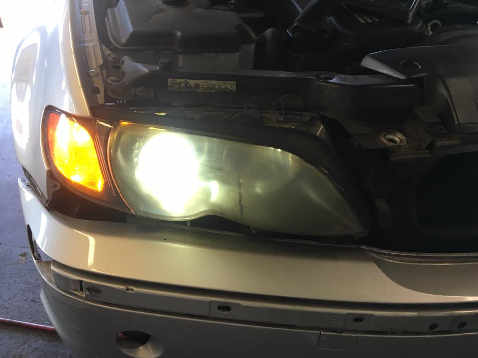 New headlight installation at Audiosport Escondido
