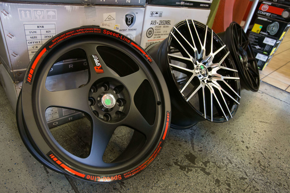 Amazing selection of rims from Audiosport Escondido