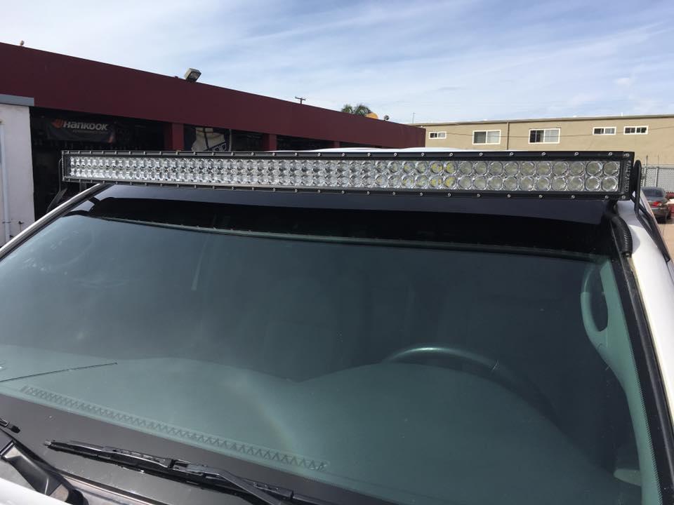 HID and LED light installation at Audiosport Escondido