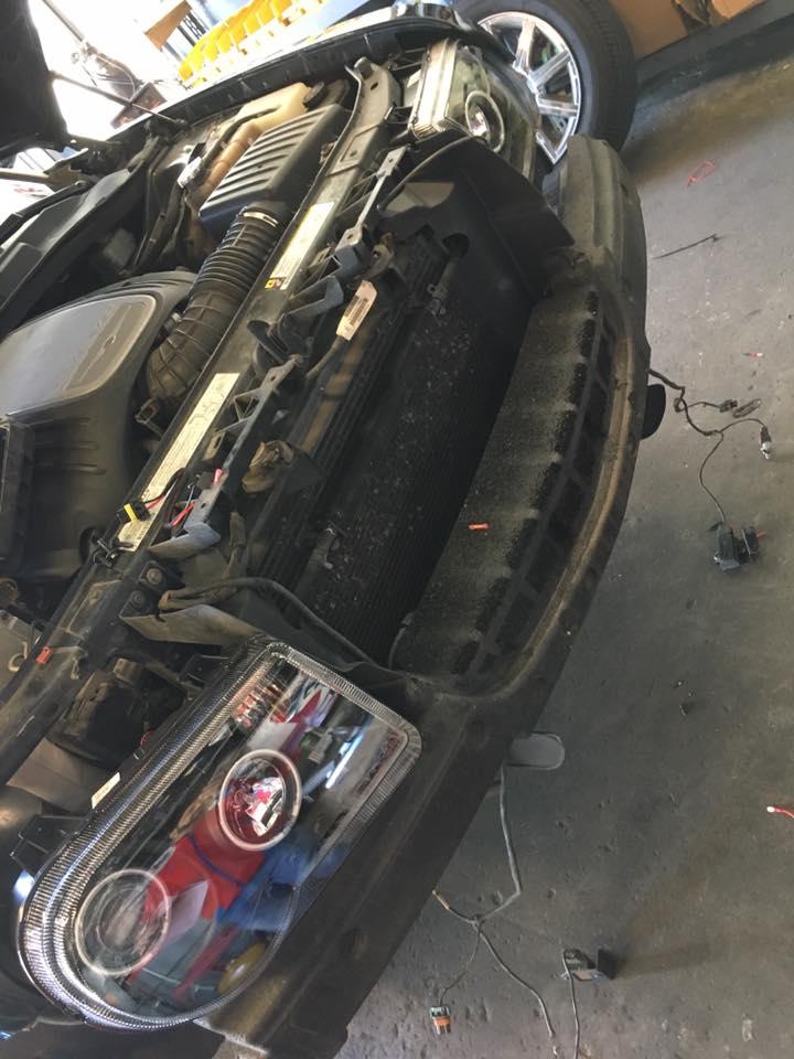 Custom Car Headlight Installation