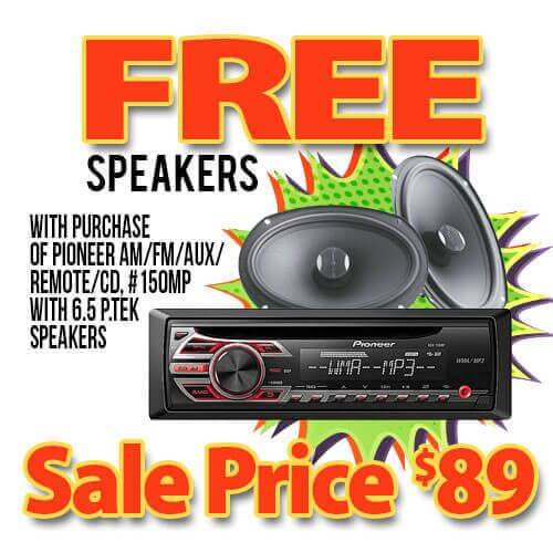 Free speakers with pioneer stereo