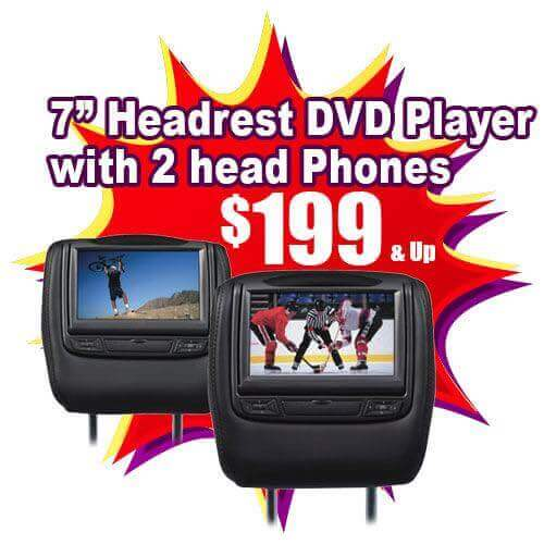 headrest video players for $199