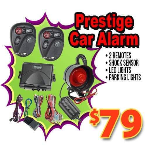Prestige car alarm and theft prevention