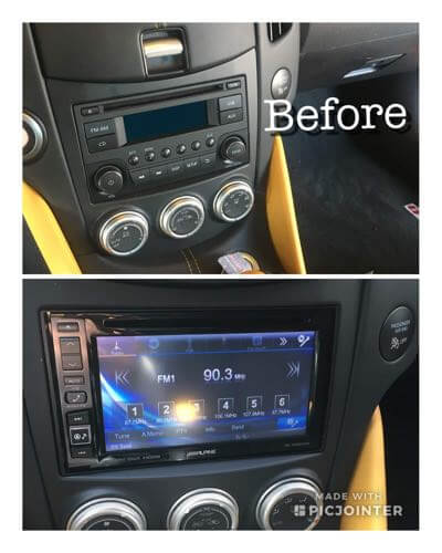 Custom car audio installation.