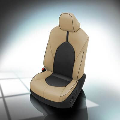 Custom beige seat cover