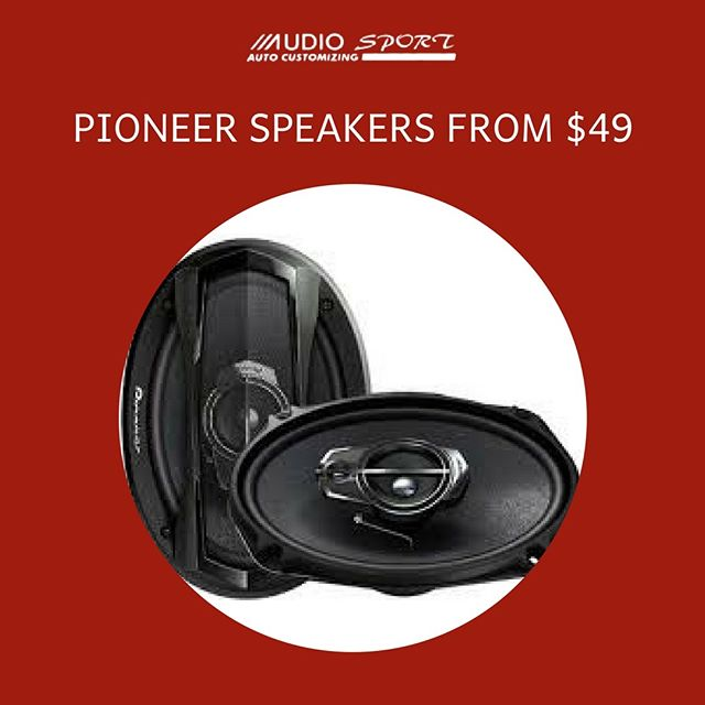 Save on name-brand speakers at Audiosport! 🔊 Check out our affordable bundles!