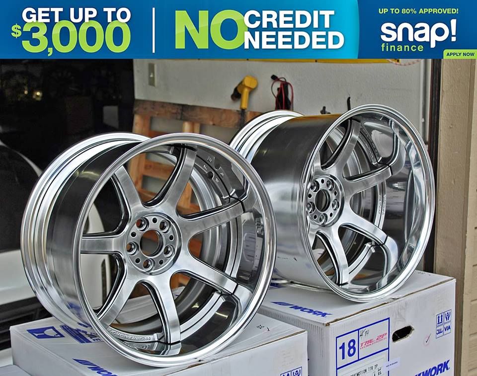 Financing for rims and tires.