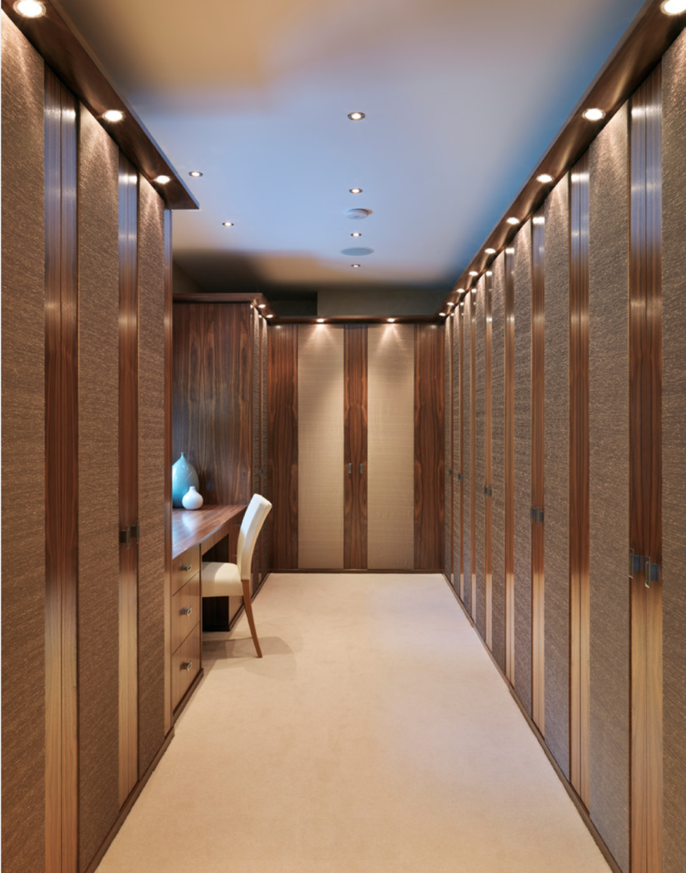 Ideabook house builders plus for Dressing room lighting ideas
