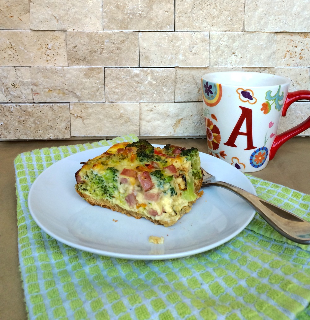 Veggie packed breakfast quiche with oat flour crust