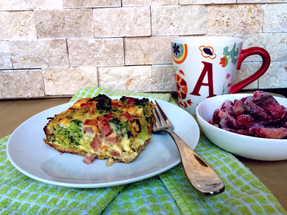 Veggie-packed breakfast quiche with oat flour crust
