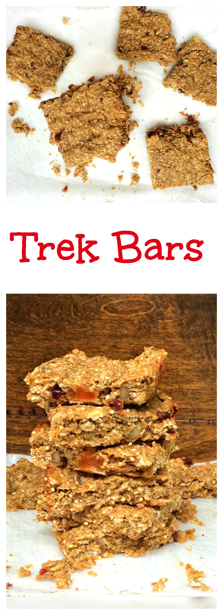 Trek Bars-homemade granola bars recipe. These bars have peanut butter, honey, oats, protein powder, and TONS of mix-ins!