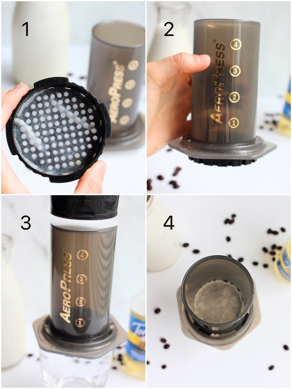 How to make an iced latte with an aeropress