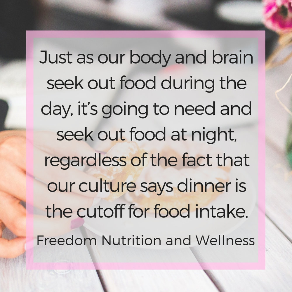 Nighttime snacking: is it really a problem?