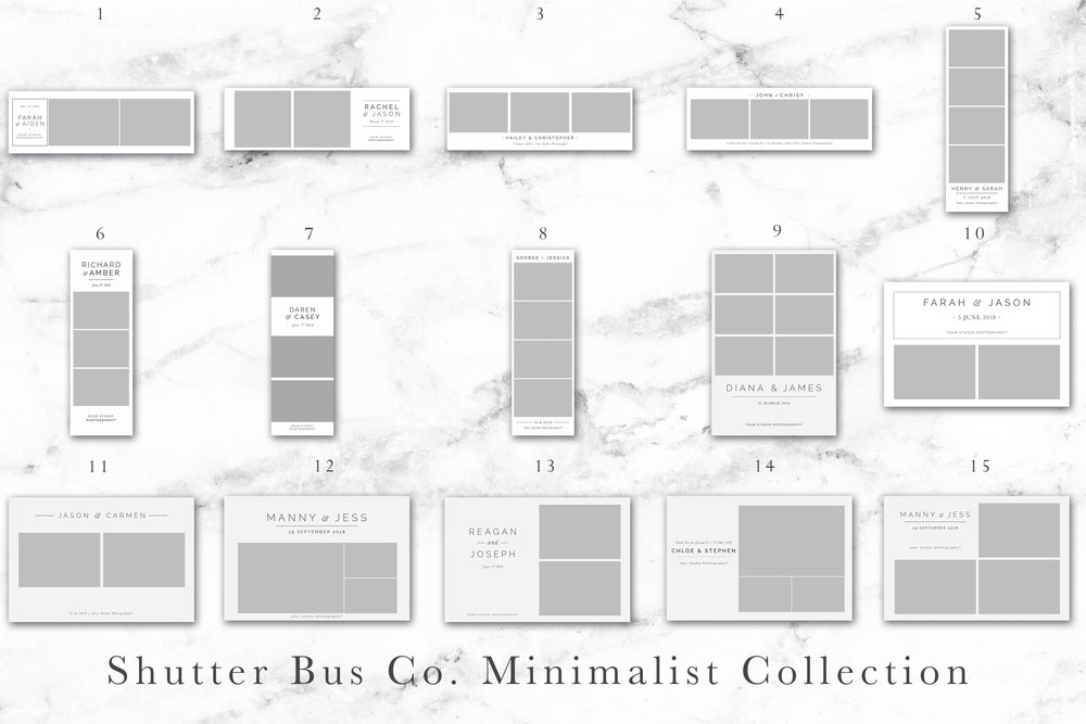 shutter bus minimalist photo strips