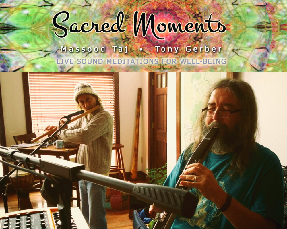 Massood Taj and Tony Gerber, the creators of Sacred Moments music project as part of Sunday Gatherings at the Center for Sustainable Stewardship Retreat in Franklin, Tennessee.