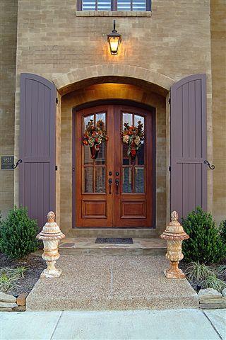 Mahogany Archtop Entry Doors