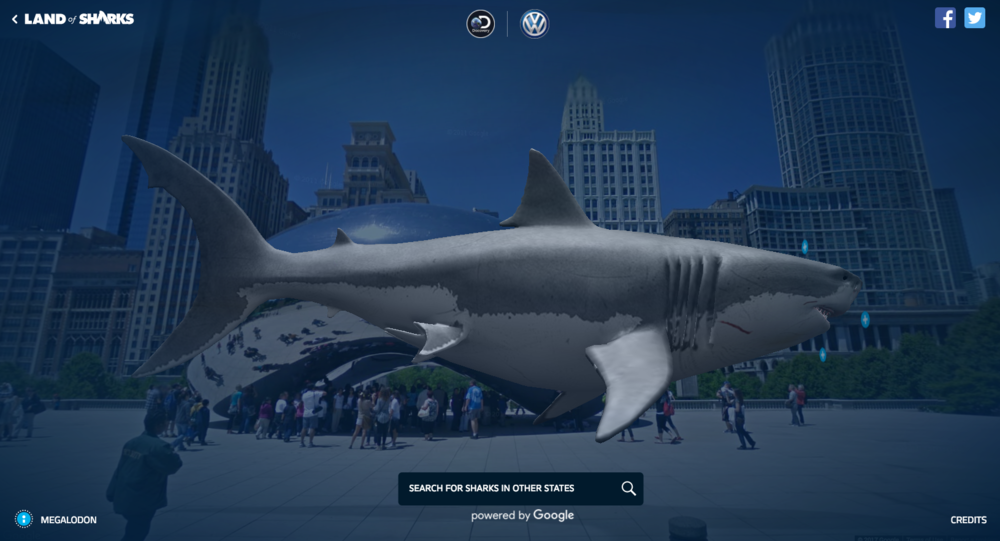 Like this huge Megalodon, in Chicago.