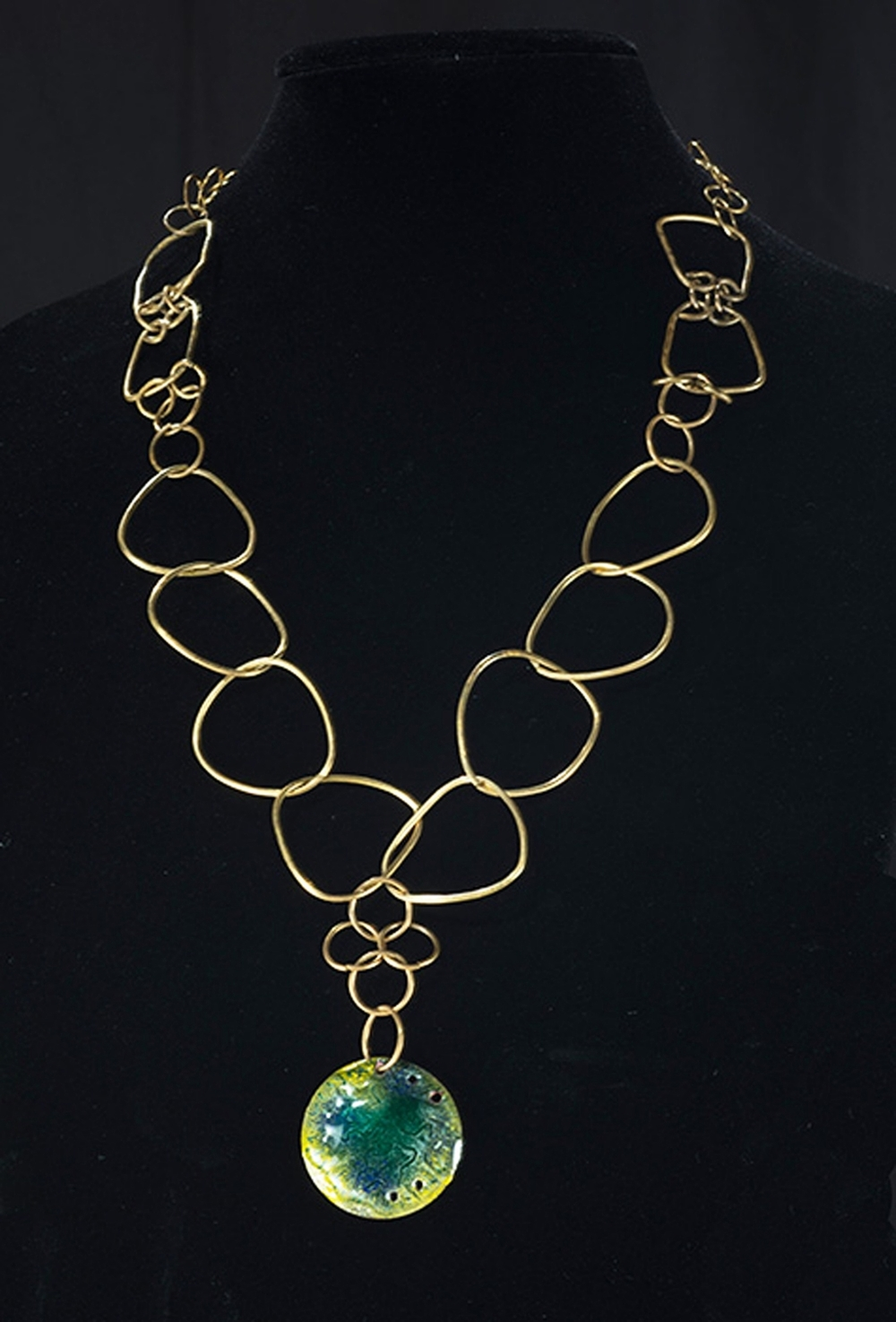 Featured, Fine Metals Necklace in Juried Exhibit at Mary Matteson-Parrish Art Gallery (2013)