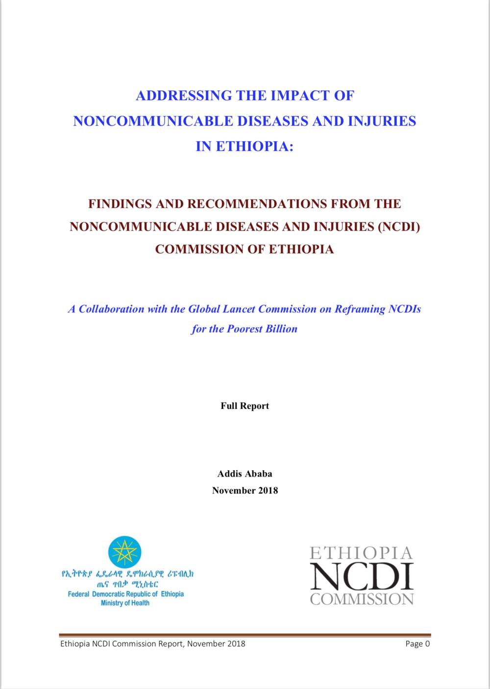 Ethiopia NCDI Commission Report